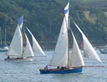 Working boats racing at  St Mawes